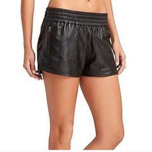 "ATHLETA Derek Lam 100% Leather Shorts 3"" Inseam"